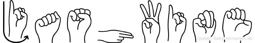 Jashwine in Fingersprache für Gehörlose