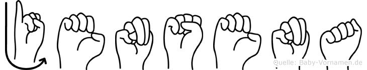 Jensena in Fingersprache für Gehörlose