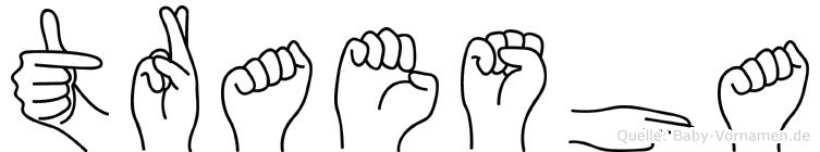 Traesha im Fingeralphabet der Deutschen Gebärdensprache