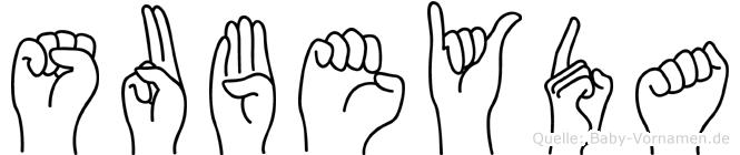 Subeyda in Fingersprache für Gehörlose