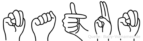 Natun in Fingersprache für Gehörlose