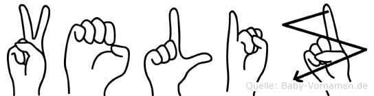 Veliz in Fingersprache für Gehörlose