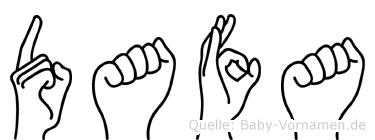 Dafa in Fingersprache für Gehörlose