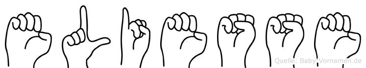 Eliesse im Fingeralphabet der Deutschen Gebärdensprache