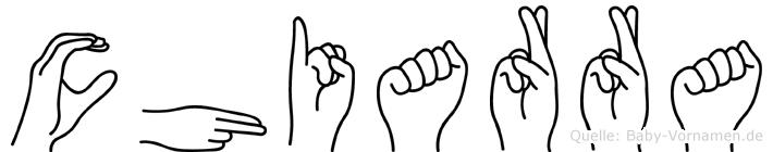 Chiarra in Fingersprache für Gehörlose