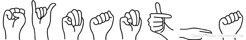 Symantha im Fingeralphabet der Deutschen Gebärdensprache
