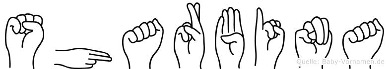 Sharbina in Fingersprache für Gehörlose