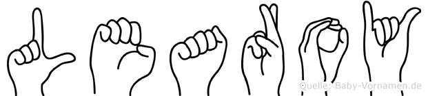 Learoy im Fingeralphabet der Deutschen Gebärdensprache