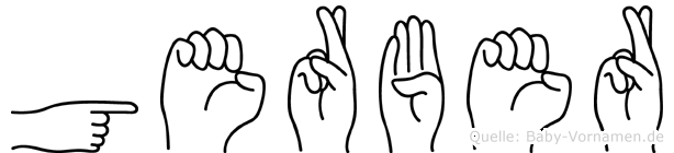 Gerber im Fingeralphabet der Deutschen Gebärdensprache
