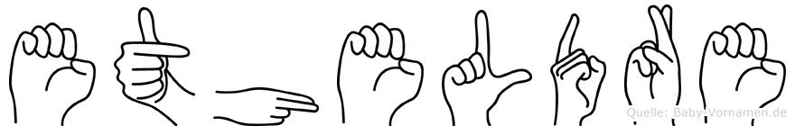 Etheldre in Fingersprache für Gehörlose