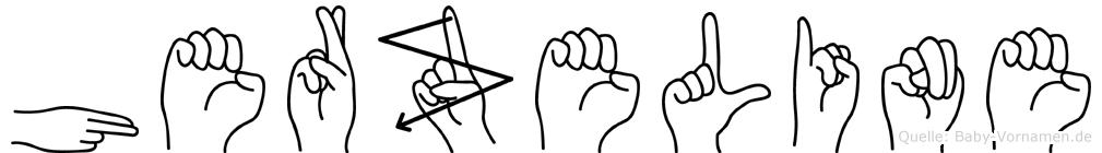 Herzeline im Fingeralphabet der Deutschen Gebärdensprache