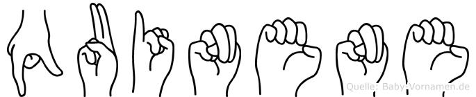 Quinene in Fingersprache für Gehörlose