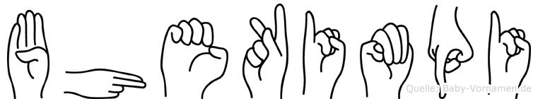 Bhekimpi im Fingeralphabet der Deutschen Gebärdensprache