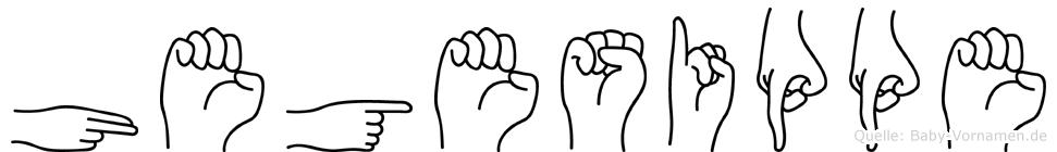 Hegesippe in Fingersprache für Gehörlose