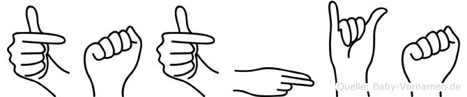 Tathya in Fingersprache für Gehörlose
