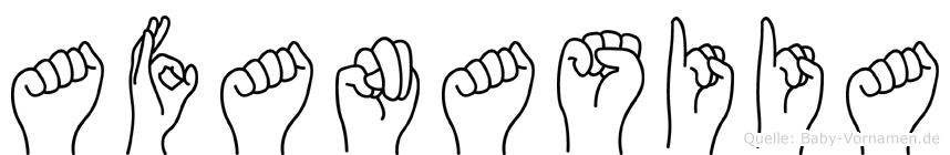 Afanasiia im Fingeralphabet der Deutschen Gebärdensprache