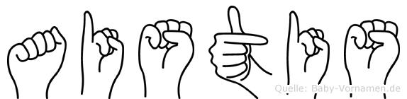 Aistis in Fingersprache für Gehörlose