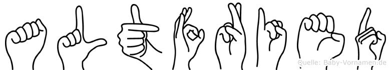 Altfried in Fingersprache für Gehörlose