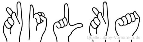 Kilka in Fingersprache für Gehörlose