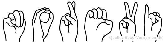 Norevi in Fingersprache für Gehörlose