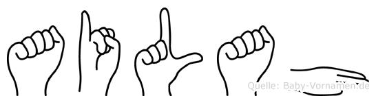 Ailah in Fingersprache für Gehörlose