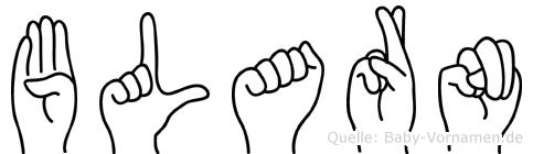 Blarn in Fingersprache für Gehörlose