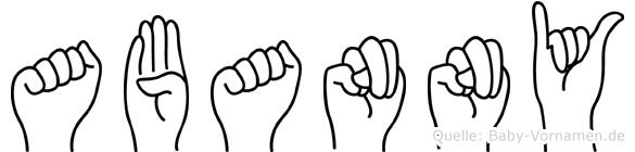Abanny in Fingersprache für Gehörlose