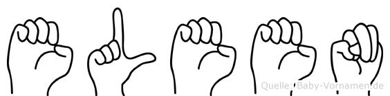 Eleen in Fingersprache für Gehörlose