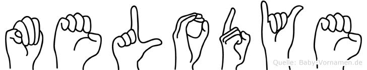 Melodye im Fingeralphabet der Deutschen Gebärdensprache