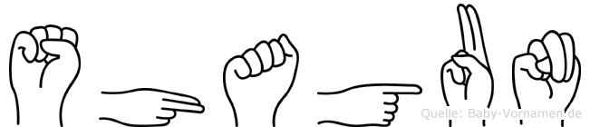 Shagun in Fingersprache für Gehörlose