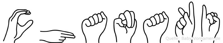 Chanaki in Fingersprache für Gehörlose