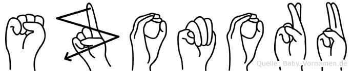 Szomoru in Fingersprache für Gehörlose