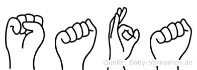 Safa im Fingeralphabet der Deutschen Gebärdensprache