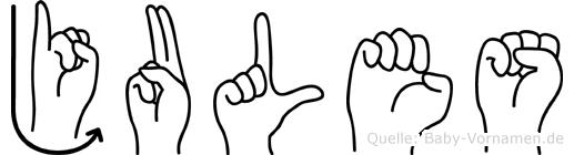 Jules in Fingersprache für Gehörlose
