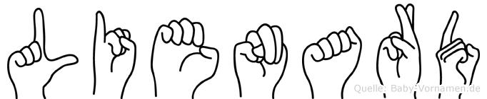 Lienard in Fingersprache für Gehörlose