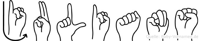 Julians in Fingersprache für Gehörlose