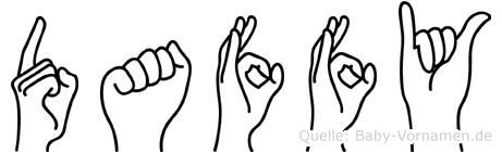 Daffy in Fingersprache für Gehörlose