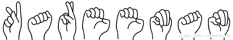 Kareeman im Fingeralphabet der Deutschen Gebärdensprache