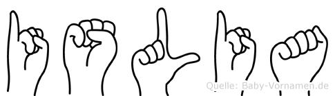 Islia in Fingersprache für Gehörlose