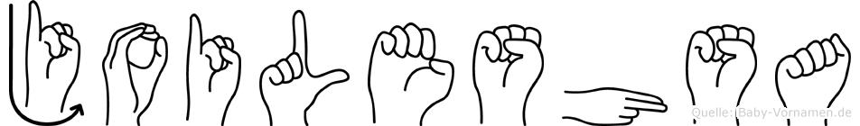 Joileshsa in Fingersprache für Gehörlose