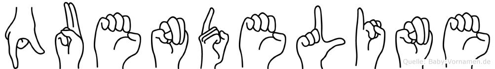 Quendeline in Fingersprache für Gehörlose