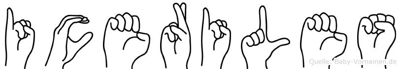 Iceriles in Fingersprache für Gehörlose