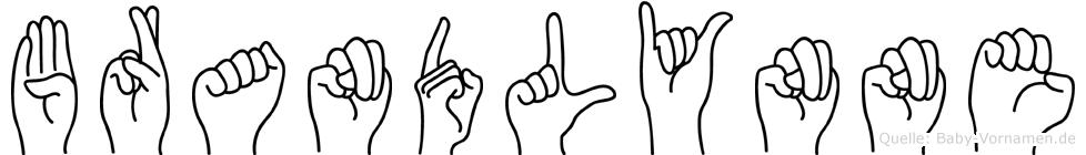 Brandlynne im Fingeralphabet der Deutschen Gebärdensprache