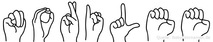 Norilee im Fingeralphabet der Deutschen Gebärdensprache
