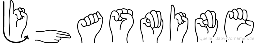 Jhasmine im Fingeralphabet der Deutschen Gebärdensprache
