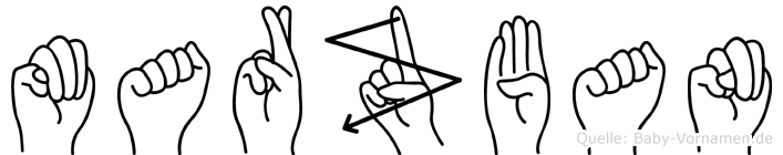 Marzban in Fingersprache für Gehörlose