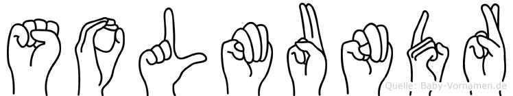 Solmundr im Fingeralphabet der Deutschen Gebärdensprache