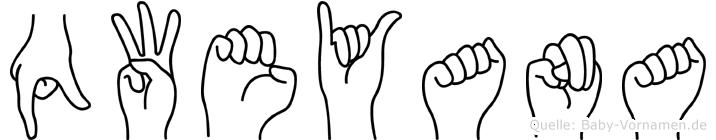 Qweyana in Fingersprache für Gehörlose