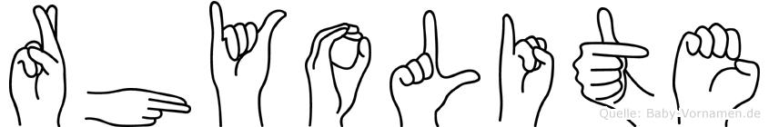 Rhyolite in Fingersprache für Gehörlose