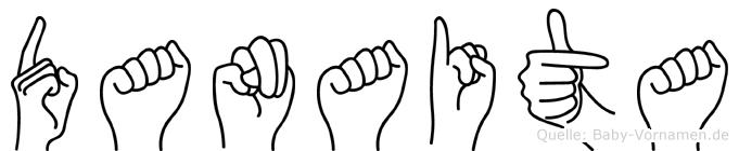 Danaita im Fingeralphabet der Deutschen Gebärdensprache